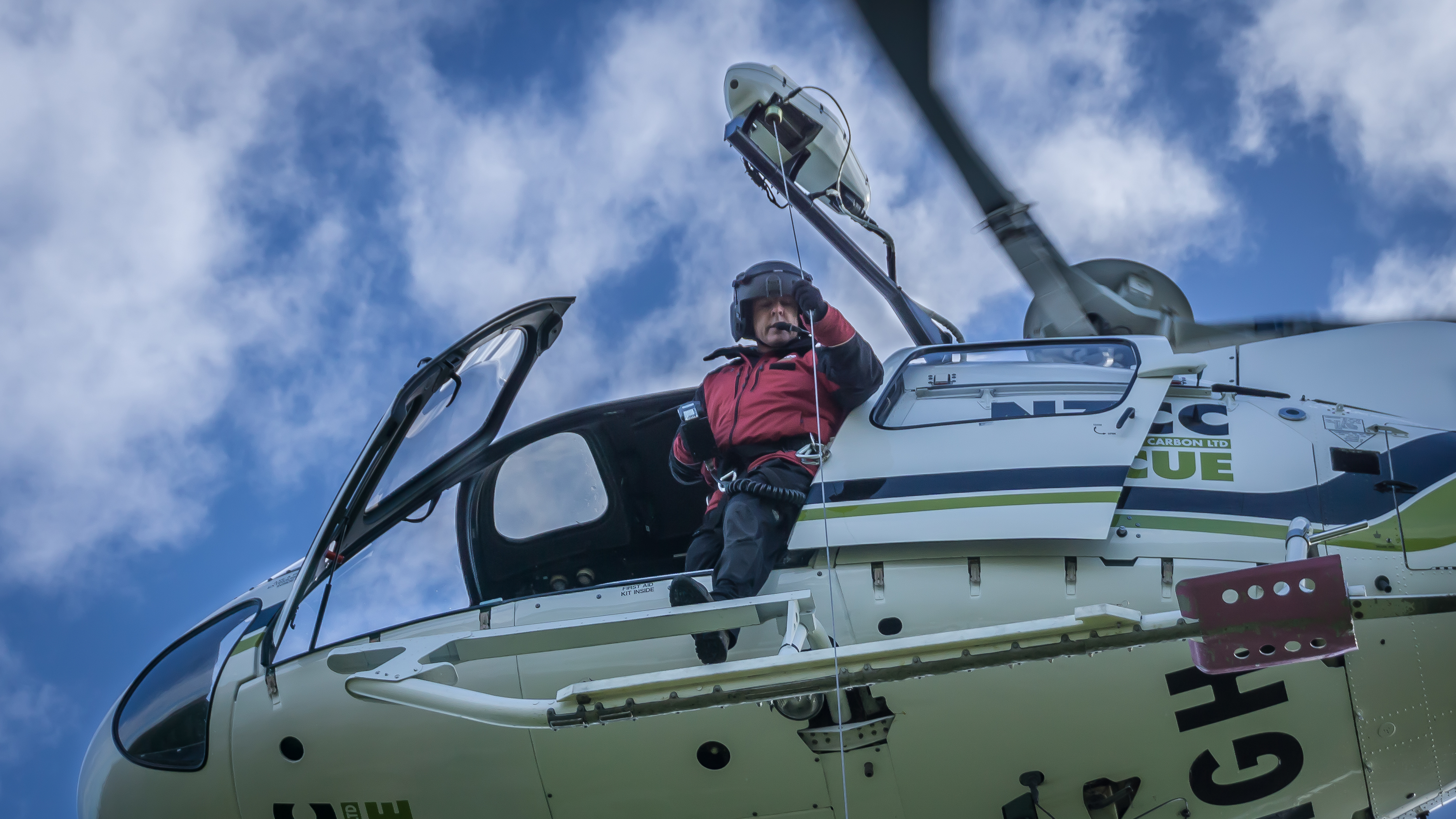 Rob Stokes (winch operator) in action, 26 May 2015