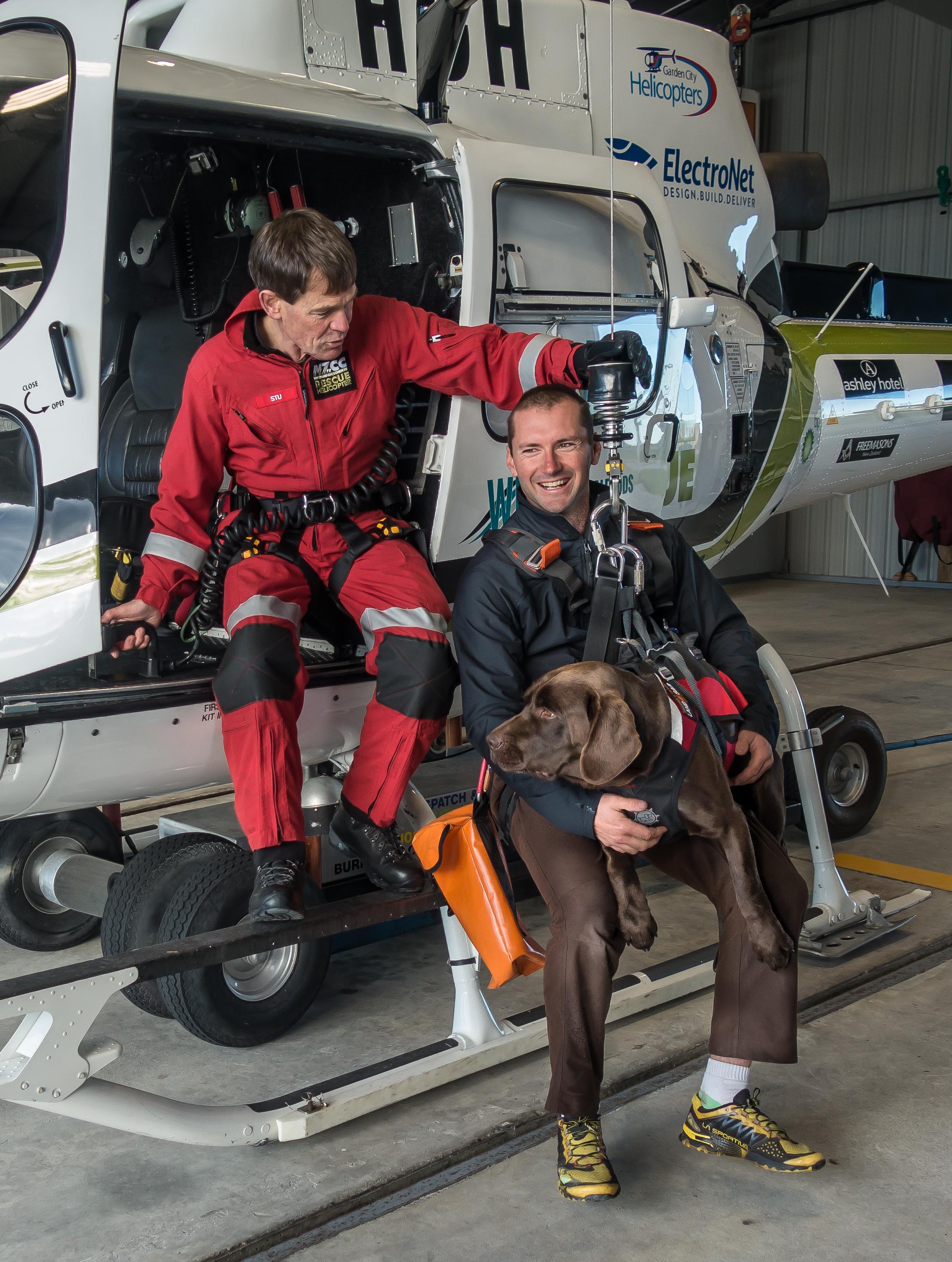 Stu, Rhys and Archie winch training.