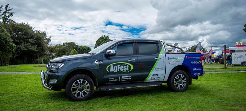 Branded ute for AgFest