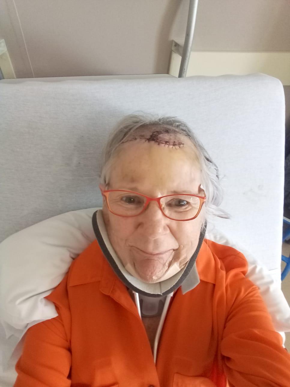 Diane Forgie in hospital